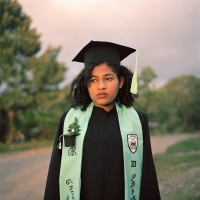 Josefina on her graduation day, 2010
